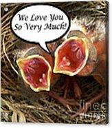 Love You Greeting Card Acrylic Print