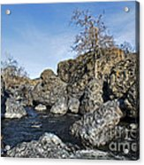 Lovejoy Basalt Formations  Acrylic Print