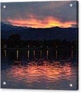 Loveland City Sunset Acrylic Print
