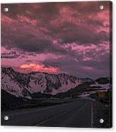 Loveland Pass Sunset Acrylic Print by Michael J Bauer