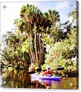Lovely Kayaker Acrylic Print