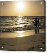 Lovers At Sunset Acrylic Print