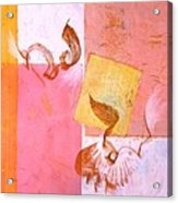 Lovers Dance 2 In Sienna And Pink  Acrylic Print