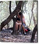 Lovers In Athens Acrylic Print
