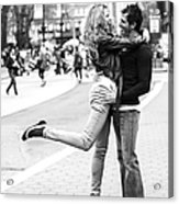 Lovers In The City Acrylic Print