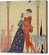 Lovers On A Balcony  Acrylic Print