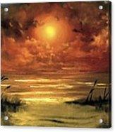 Lovers Sunset Acrylic Print