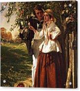Lovers Under A Blossom Tree Acrylic Print