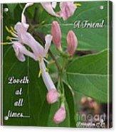 Loveth At All Times Acrylic Print