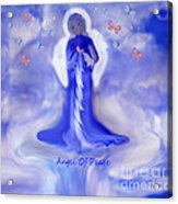 Loving Angel Of Peace Acrylic Print by Sherri's Of Palm Springs