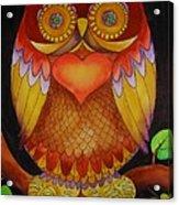 Loving Owl Acrylic Print by Lou Cicardo
