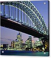 Low Angle View Of A Bridge, Sydney Acrylic Print