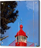 Low Angle View Of A Lighthouse, Morgat Acrylic Print
