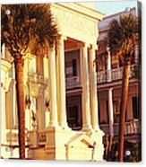Low Angle View Of Historic Houses Acrylic Print