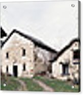Low Angle View Of Houses In A Village Acrylic Print