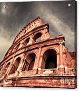 Low Angle View Of The Roman Colosseum Acrylic Print by Stefano Senise