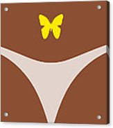 Low Back Tattoo - Butterfly Acrylic Print