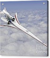 Low-boom Supersonic Aircraft, Artwork Acrylic Print