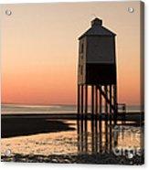 Low Lighthouse Sunset Acrylic Print