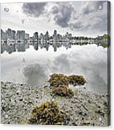 Low Tide At False Creek In Stanley Park Acrylic Print