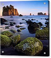 Low Tide At Second Beach Acrylic Print