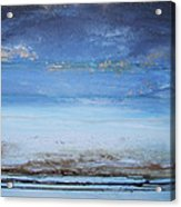 Low Tide Beach Rhythms And Textures Blue Series1a Acrylic Print by Mike   Bell