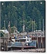Low Tide Fishing Boat Acrylic Print