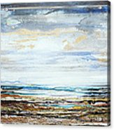Low Tide Hauxley Haven No10 Acrylic Print by Mike   Bell