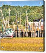 Low Tide - Shrimp Boat Acrylic Print