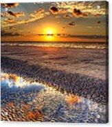 Low Tide Sunrise On Jekyll Island Acrylic Print