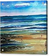 Low Tide Wells Beach Maine Acrylic Print