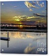 Lowcountry Marina Sunset Acrylic Print
