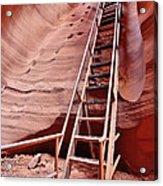 Lower Antelope Canyon Ladder Acrylic Print