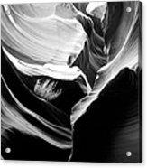 Lower Antelope Canyon Shrub Acrylic Print