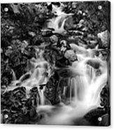 Lower Bridal Veil Falls 1 Bw Acrylic Print