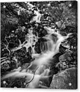Lower Bridal Veil Falls 2 Bw Acrylic Print