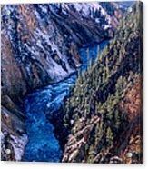 Lower Falls Into Yellowstone River Acrylic Print