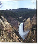 Lower Falls Of The Yellowstone River Acrylic Print