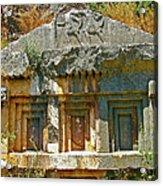 Lower-level Tomb In Myra-turkey Acrylic Print