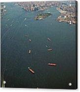 Lower Manhattan And New York Bay Acrylic Print