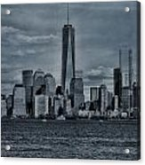Lower Manhattan And The Freedom Tower Acrylic Print