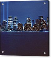 Lower Manhattan, Beams Of Light, Nyc Acrylic Print