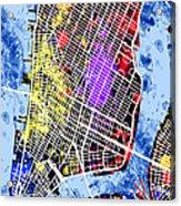 Lower Manhattan Map Acrylic Print