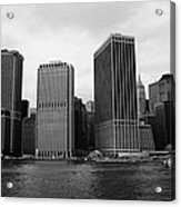 Lower Manhattan Shoreline And Skyline And Financial District Waterfront New York City Acrylic Print