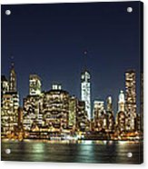 Lower Manhatten Pano Acrylic Print