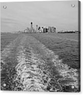 Lower New York In Black And White Acrylic Print
