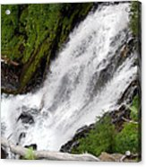 Lower Part Of Red Blanket Falls Acrylic Print