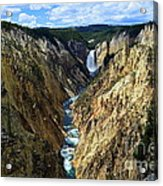 Lower Yellowstone Falls Panorama 2 Acrylic Print