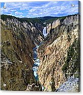 Lower Yellowstone Falls Panorama Acrylic Print