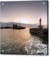 Lowestoft Harbour At Dawn Acrylic Print